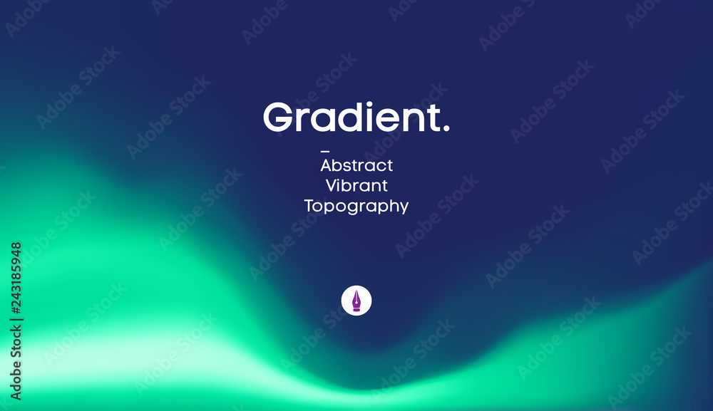Fototapety, obrazy: Fluid gradient background design. Futuristic liquid abstract colorful wallpaper. EPS 10