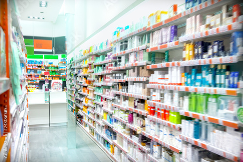 Photo sur Toile Pharmacie Pharmacy Interior