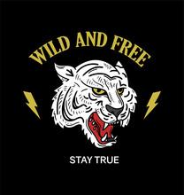 Tiger Trendy Phrase Print