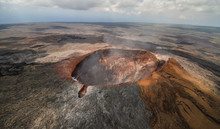 Aerial View Showing The Crater...