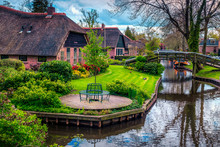 Dutch Village With Colorful Or...