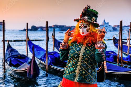 Stickers pour porte Venise Venice, Italy.
