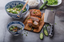 Asian Roasted Pork Belly With ...