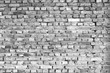 Background of old ancient bricks wall. Black and White