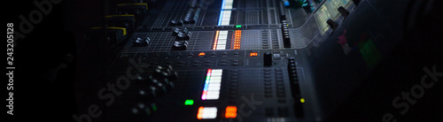 Fotografie, Obraz  Audio Mixing Console, sound mixing board