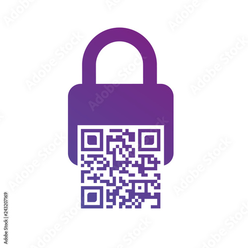 Photo Bar code lock icon