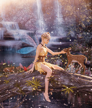 3d Fantasy Little Pixie In Myt...