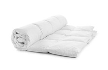 Rolled Soft Blanket On White B...