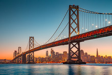 San Francisco Skyline With Oak...