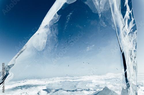Fotografie, Obraz  Blocks of ice gleaming in the sun. Arctic winter background.