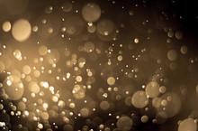 Abstract Brown Golden Background Bokeh Light Effect