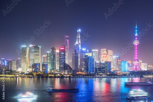 Poster New York beautiful shanghai at night