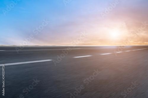 Door stickers Gray Air highway asphalt road and beautiful sky scenery