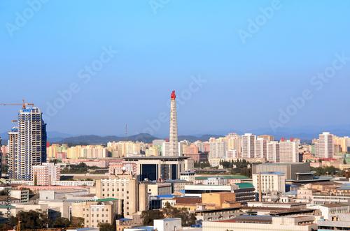 Foto  Aerial view of Pyongyang, capital city of the DPRK, North Korea