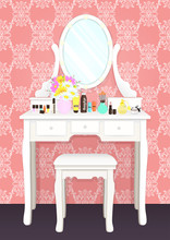 Dressing Table With Mirror Wit...