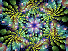 Multiple Colorful Spirals Flam...
