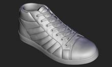 3D Realistic Shoe In Gray Colo...