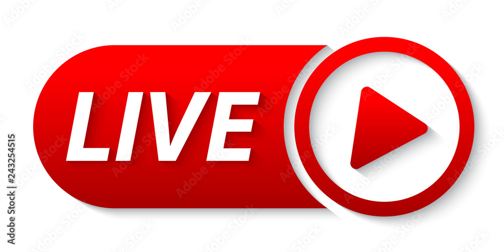Fototapeta live  streaming lower third. video banner live from social media. YouTube live video streaming.