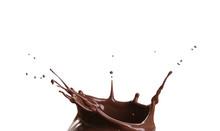 Splash Of Hot Chocolate On Whi...