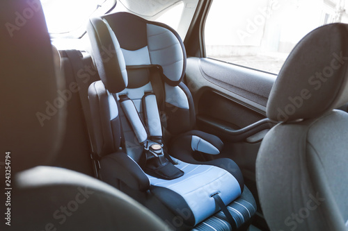 Safety seat for child in car Fotobehang