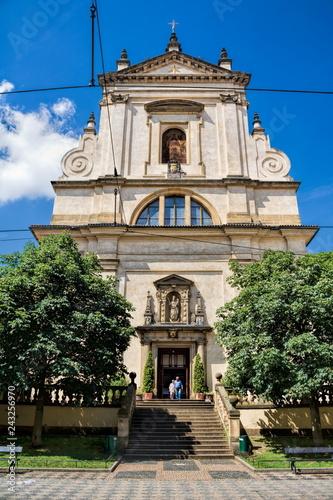 Deurstickers Centraal Europa Prag, Kirche Maria vom Siege