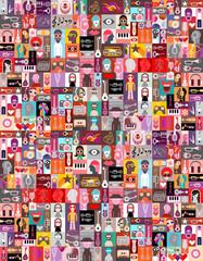 Glazbena tema Veliki pop art kolaž