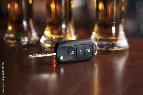 Valokuva  Drinking and driving concept