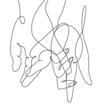 Continuous Line Drawing Of Hands