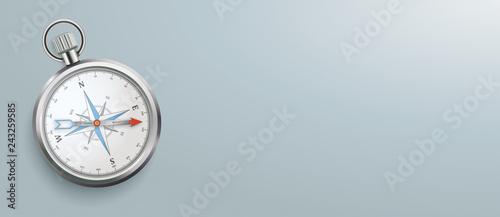 Compass Gray Background Header Canvas