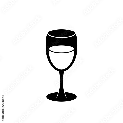 Fotografie, Obraz Wine glass vector icon isolated on white background.