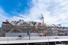 羽田空港第2ターミナル国際線施設 建設工事中