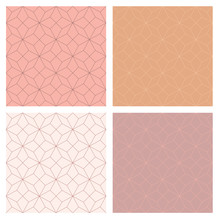 4 Seamless Star Pattern With N...