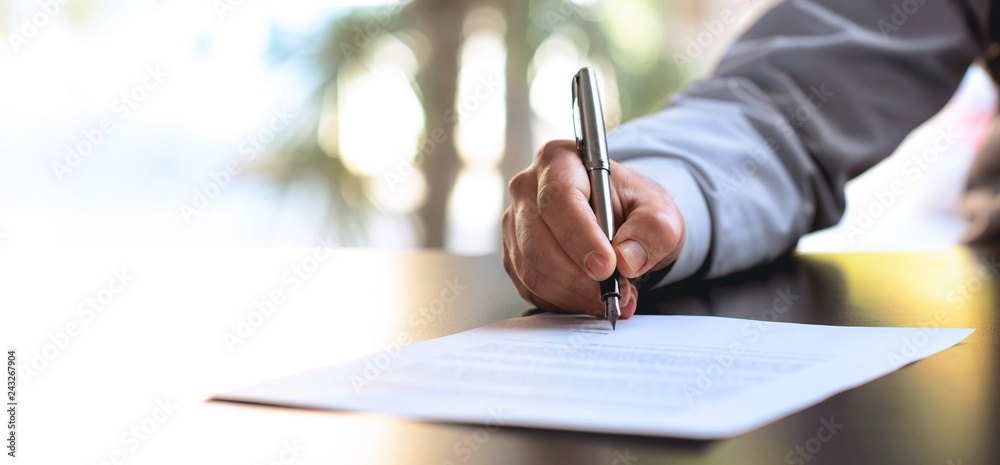 Fototapety, obrazy: Signing Official Document