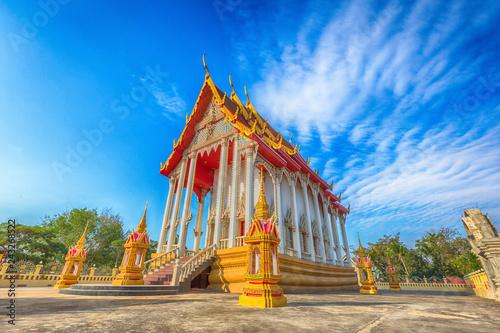 Fotografie, Obraz  Landmark wat thai, new house temple in Prachuap Khiri Khan province, Thailand