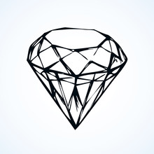 Diamond. Vector Sketch