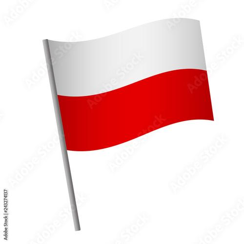 Canvas Print Poland flag icon.