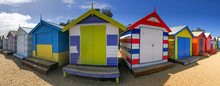 Panoramic View Of Colourful Be...