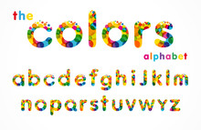Vector Of Stylized Colorful Bu...