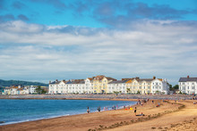 Exmouth Beach In Summer, Devon...