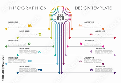 Photo  Infographic design template with place for your data