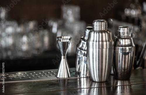 Steel bar shakers and jigger Fototapeta
