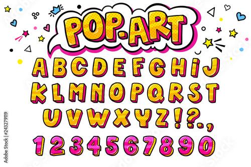 Fotografía  Comic retro letters set