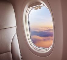 Airplane Interior With Window ...