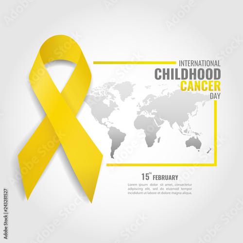 Fotografie, Obraz  Vector illustration on the theme Childhood Cancer Day