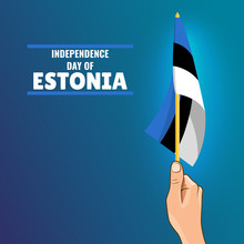 Vector Illustration On The Theme Independence Day Of Estonia.