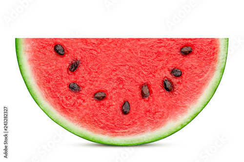 Fotografía watermelon slice isolated on white background, clipping path, full depth of fiel