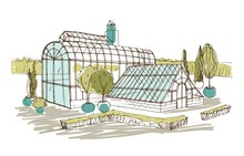 Freehand Drawing Of Pavilion O...