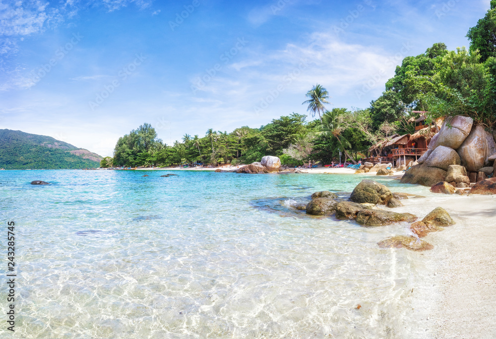 Fototapety, obrazy: Panorama of asian paradise beach in Thailand