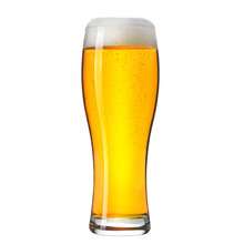 Pint Of Craft Lager Beer Isolated On White Background.
