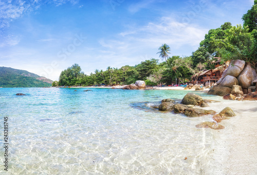Canvas Print Panorama of asian paradise beach in Thailand